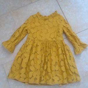 Genuine kids Oshkosh mustard lace dress size 5